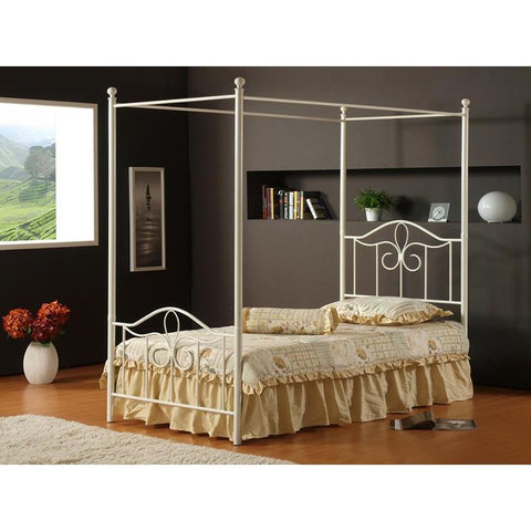 Hillsdale Westfield Canopy Bed in White