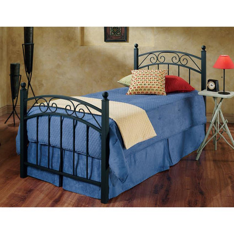 Hillsdale Willow Metal Poster Bed in Textured Black