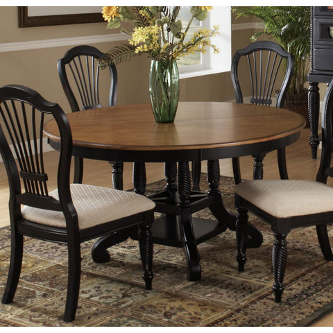 Hillsdale Wilshire 56x56 Round to Oval Dining Table