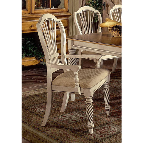 Hillsdale Wilshire Arm Chair in Antique White (Set of 2)