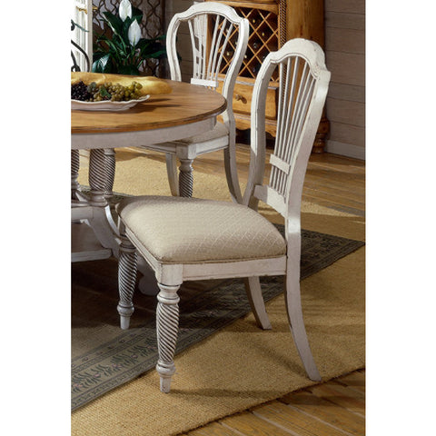 Hillsdale Wilshire Side Chair in Antique White (Set of 2)