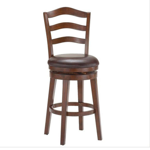 Hillsdale Windsor Swivel Bar Stool in Brown Cherry