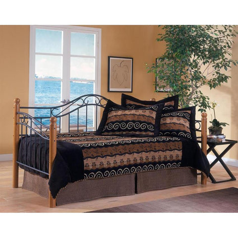 Hillsdale Winsloh Daybed in Medium Oak & Black