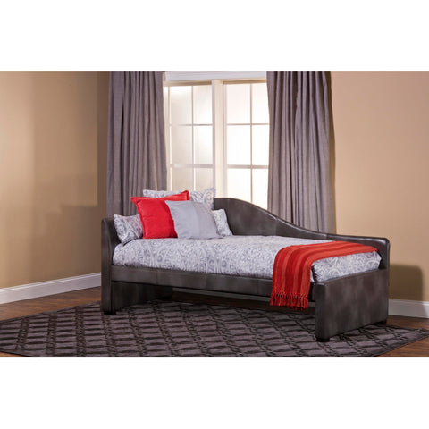 Hillsdale Winterberry Daybed In Weathered Grey Faux Leather