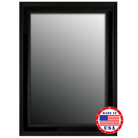 Hitchcock Butterfield Ceylon Black Framed Wall Mirror 8068000