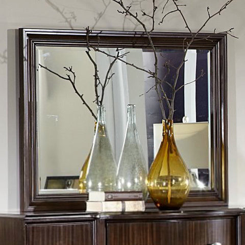 Homelegance Abramo Rectangular Mirror in Dark Brown