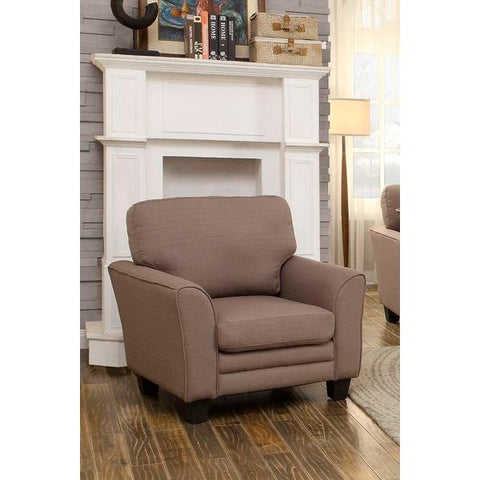 Homelegance Adair Chair In Grey Fabric