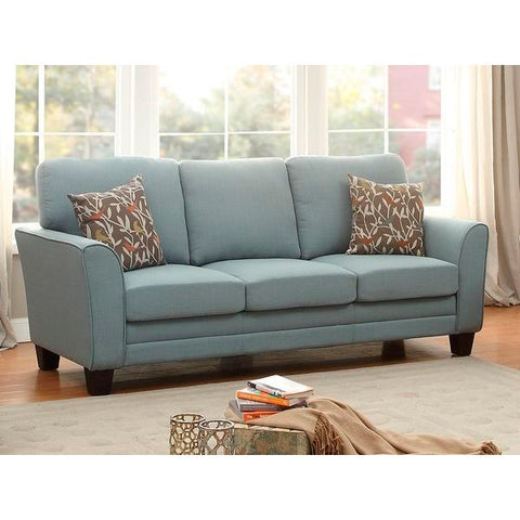 Homelegance Adair Sofa With 2 Pillows In Teal Fabric