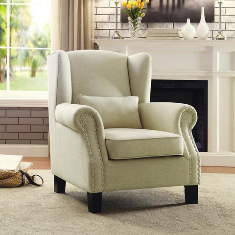 Homelegance Adelaide Accent Chair in Light Neutral