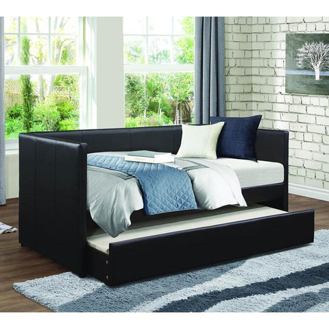 Homelegance Adra Daybed w/Trundle in Black