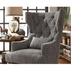 Homelegance Adriano Upholstered Accent Chair w/ 1 Kidney Pillow