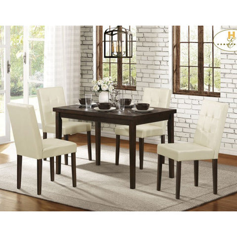 Homelegance Ahmet 5 Piece Dining Room Set in Espresso
