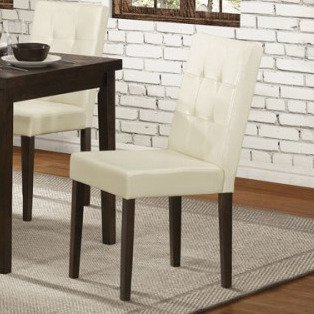 Homelegance Ahmet Side Chair w/ Cream Bi-Cast Vinyl Cover