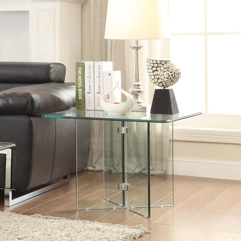 Homelegance Alouette Square Glass End Table