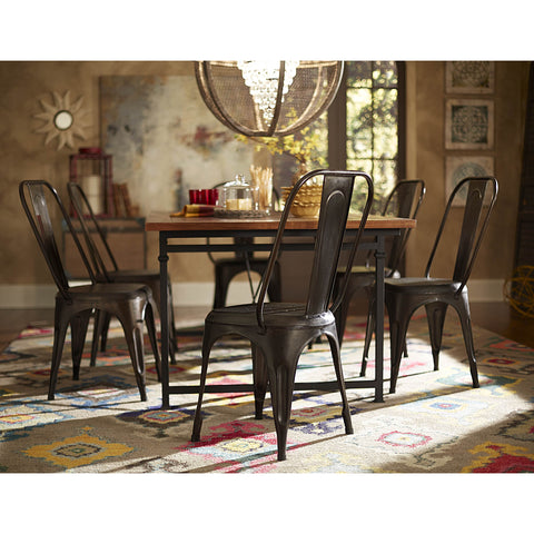 Homelegance Amara Metal Side Chair in Rustic
