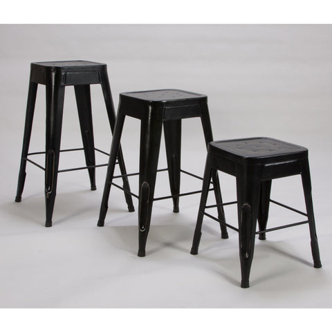 Homelegance Amara Metal Stool in Black