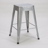 Homelegance Amara Metal Stool in Silver