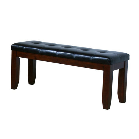 Homelegance Ameillia 48 Inch Bench in Dark Brown Vinyl