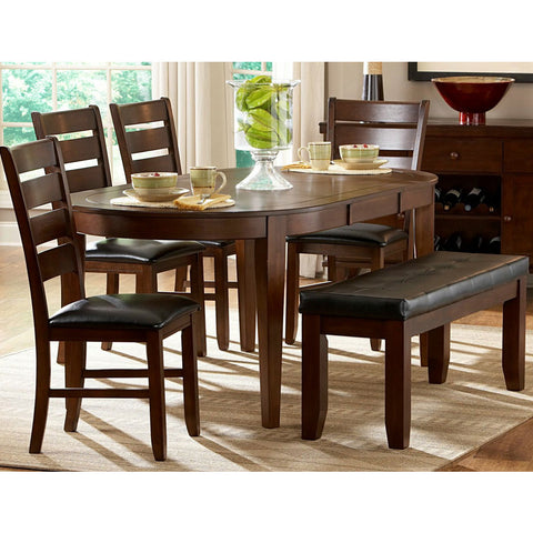 Homelegance Ameillia 6 Piece Butterfly Leaf Oval Dining Room Set