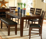 Homelegance Ameillia 6 Piece Extension Rectangular Dining Room Set