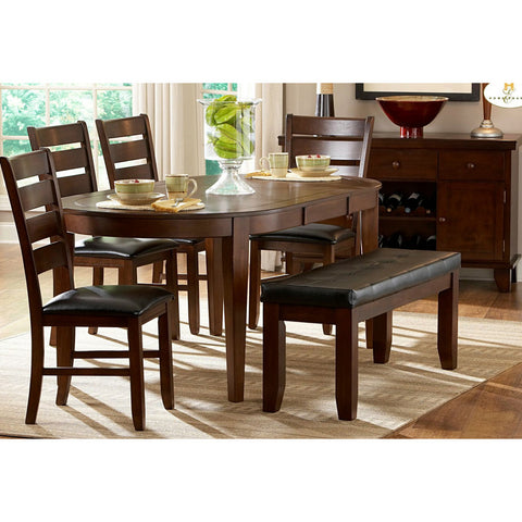 Homelegance Ameillia 7 Piece Butterfly Leaf Oval Dining Room Set