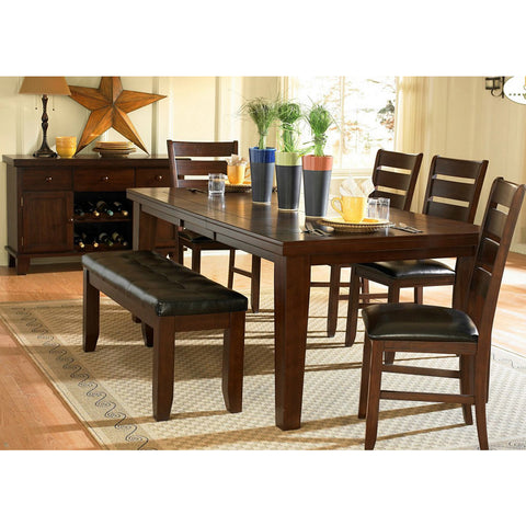 Homelegance Ameillia 7 Piece Extension Rectangular Dining Room Set