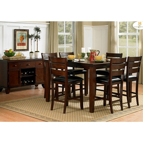 Homelegance Ameillia 8 Piece Extension Square Counter Height Table Set