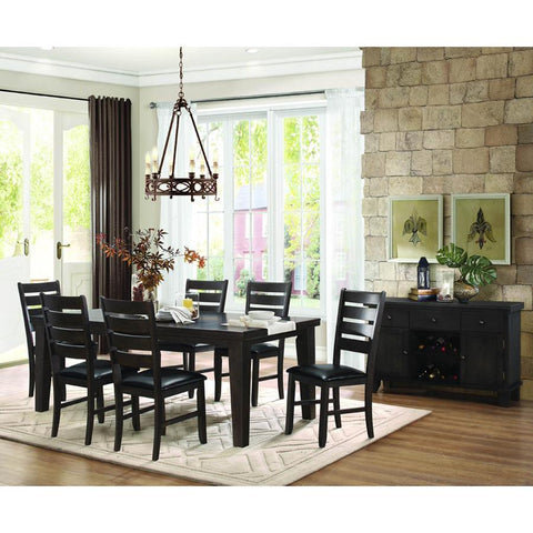 Homelegance Ameillia 8 Piece Rectangular Dining Room Set in Dark Oak
