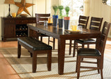 Homelegance Ameillia Extension Rectangular Dining Table in Dark Oak