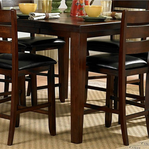 Homelegance Ameillia Extension Square Counter Height Table in Dark Oak