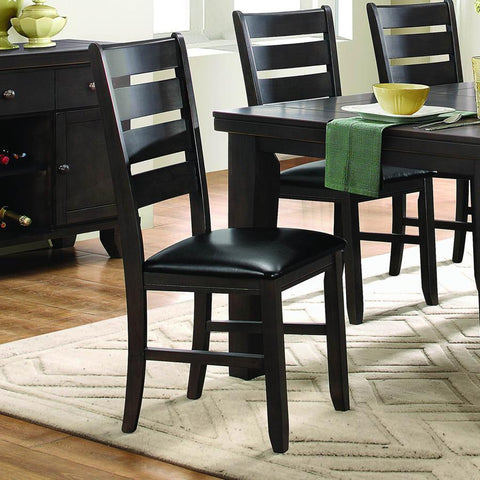 Homelegance Ameillia Ladder Back Side Chair in Dark Oak