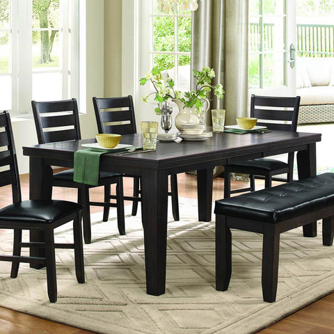 Homelegance Ameillia Rectangular Dining Table in Dark Oak