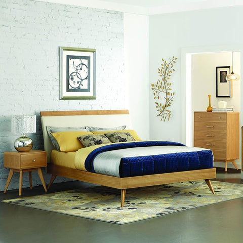 Homelegance Anika 3 Piece Platform Bedroom Set in Light Ash