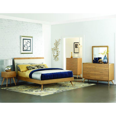 Homelegance Anika 4 Piece Platform Bedroom Set in Light Ash
