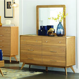 Homelegance Anika 6 Drawer Dresser in Light Ash
