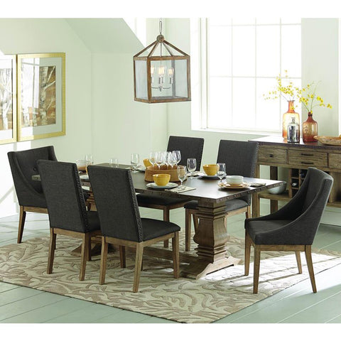 Homelegance Anna Claire 7 Piece Rectangular Dining Room Set in Driftwood