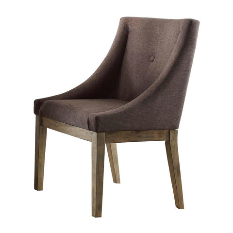 Homelegance Anna Claire Curved Arm Chair in Neutral Grey Fabric