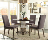 Homelegance Anna Claire Side Chair in Neutral Grey Fabric