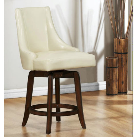 Homelegance Annabelle 29 Inch Swivel Bar Stool w/ Dark Cherry Base