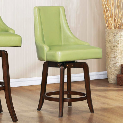 Homelegance Annabelle Swivel Counter Height Chair in Green