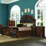 Homelegance Antoinetta 3 Piece Panel Bedroom Set in Warm Cherry