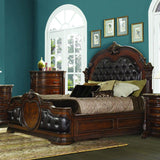Homelegance Antoinetta 4 Piece Panel Bedroom Set in Warm Cherry