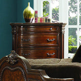 Homelegance Antoinetta 5 Drawer Chest in Warm Cherry