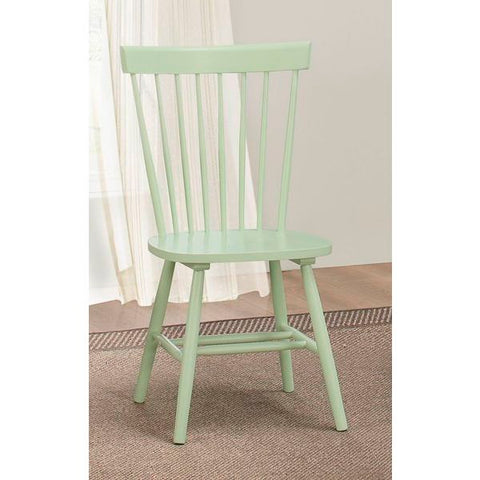 Homelegance April Side Chair In Pastel Green