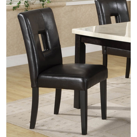 Homelegance Archstone Side Chair w/ Black Bi-Cast Vinyl