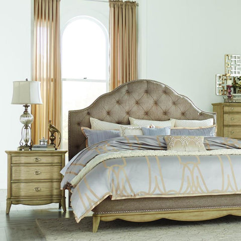 Homelegance Ashden 2 Piece Platform Bedroom Set w/Upholstered Headboard in Driftwood