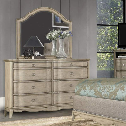 Homelegance Ashden 8 Drawer Dresser & Mirror in Driftwood