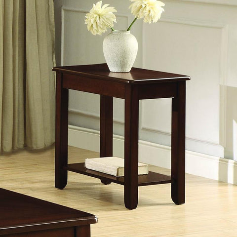 Homelegance Ballwin Chairside Table in Cherry