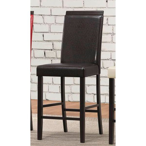 Homelegance Bari Counter Height Chair In Dark Brown P/U