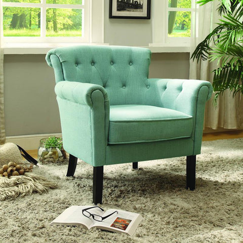 Homelegance Barlowe Accent Chair in Blue